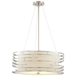 "Forecast Lighting 190215836 3 Light 24.5"" Wide Pendant from the Labyrinth Collection - Satin Nickel"