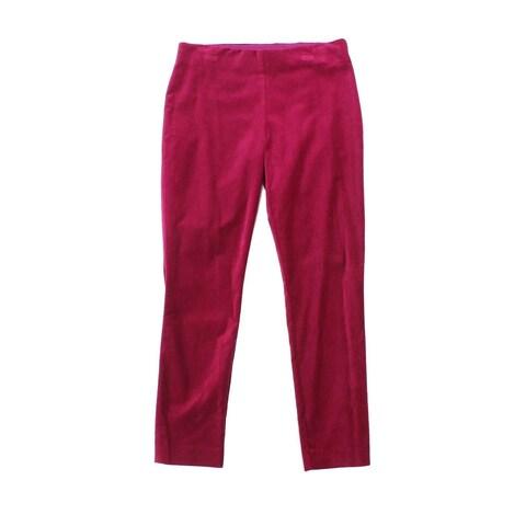 Lauren By Ralph Lauren Womens Skinny Fit Velvet Pants