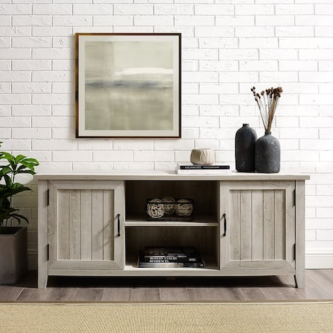 The Gray Barn Wind Gap Groove Door TV Stand Console