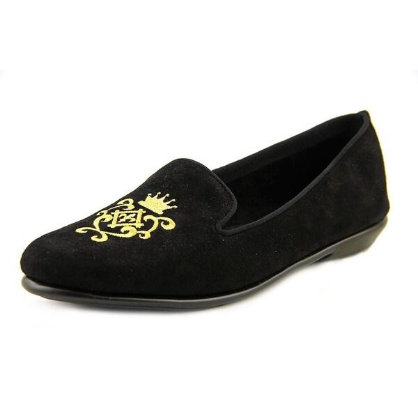 Aerosoles Betunia Women Round Toe Suede Black Loafer