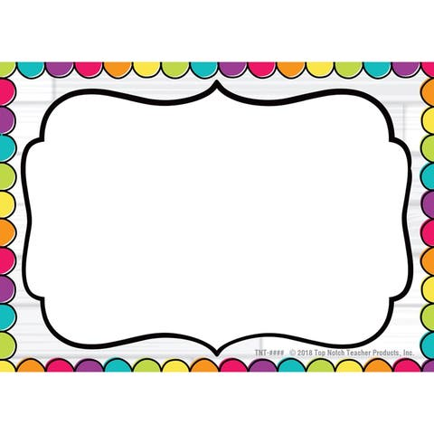 DIY Dots Name Tags, Pack of 32 - One Size