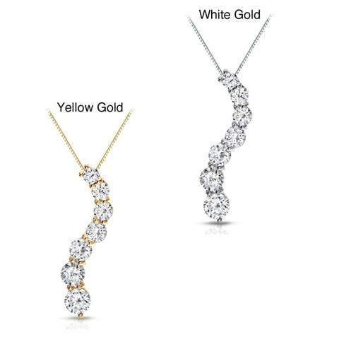 Auriya 1/2ctw Round Diamond Journey Necklace 14k Gold