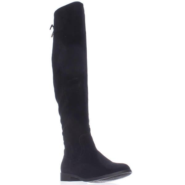 5e9954087 Shop XOXO Trish Over The Knee Back Lace Boots, Black - Free Shipping ...