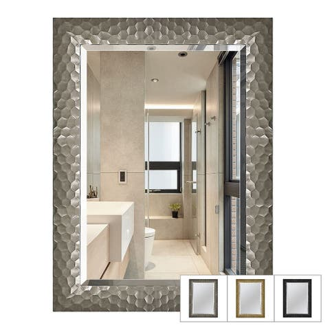 Copper Grove Bringamosa Glam Beveled Honeycomb Venetian Wall Mirror - 24*32*0.75