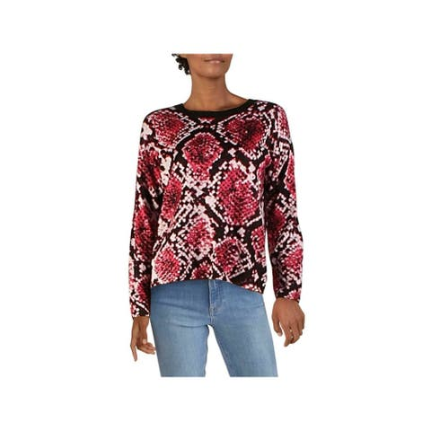 DKNY Pink Long Sleeve Button Up Sweater S