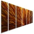 Statements2000 Red/Yellow/Orange Modern Metal Wall Art Painting Panels by Jon Allen - Fall Plumage - Thumbnail 0