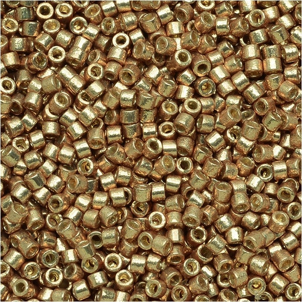 Miyuki Delica Seed Beads 11/0 - Duracoat Galvanized Champagne DB1834 7.2 Grams