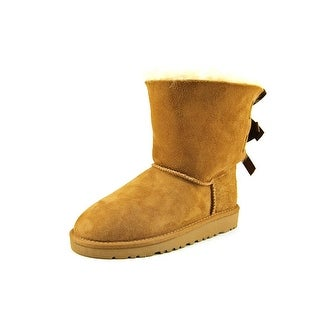 Ugg Australia Bailey Bow Women  Round Toe Suede Tan Winter Boot