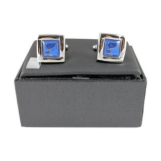 NHL St Louis Blues Square Cufflinks Gift Box Set