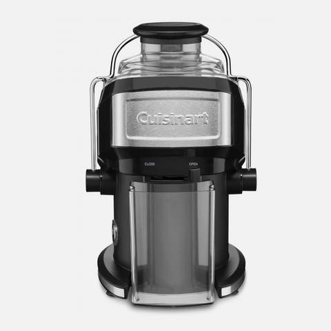 Cuisinart CJE-500FR Compact Juice Extractor, Black & Silver, Certified Refurbished