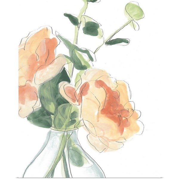 """Soft Posy Sketch IV"" Poster Print"