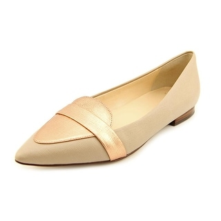 Cole Haan Ambrose Skimmer Women Round Toe Leather Tan Flats
