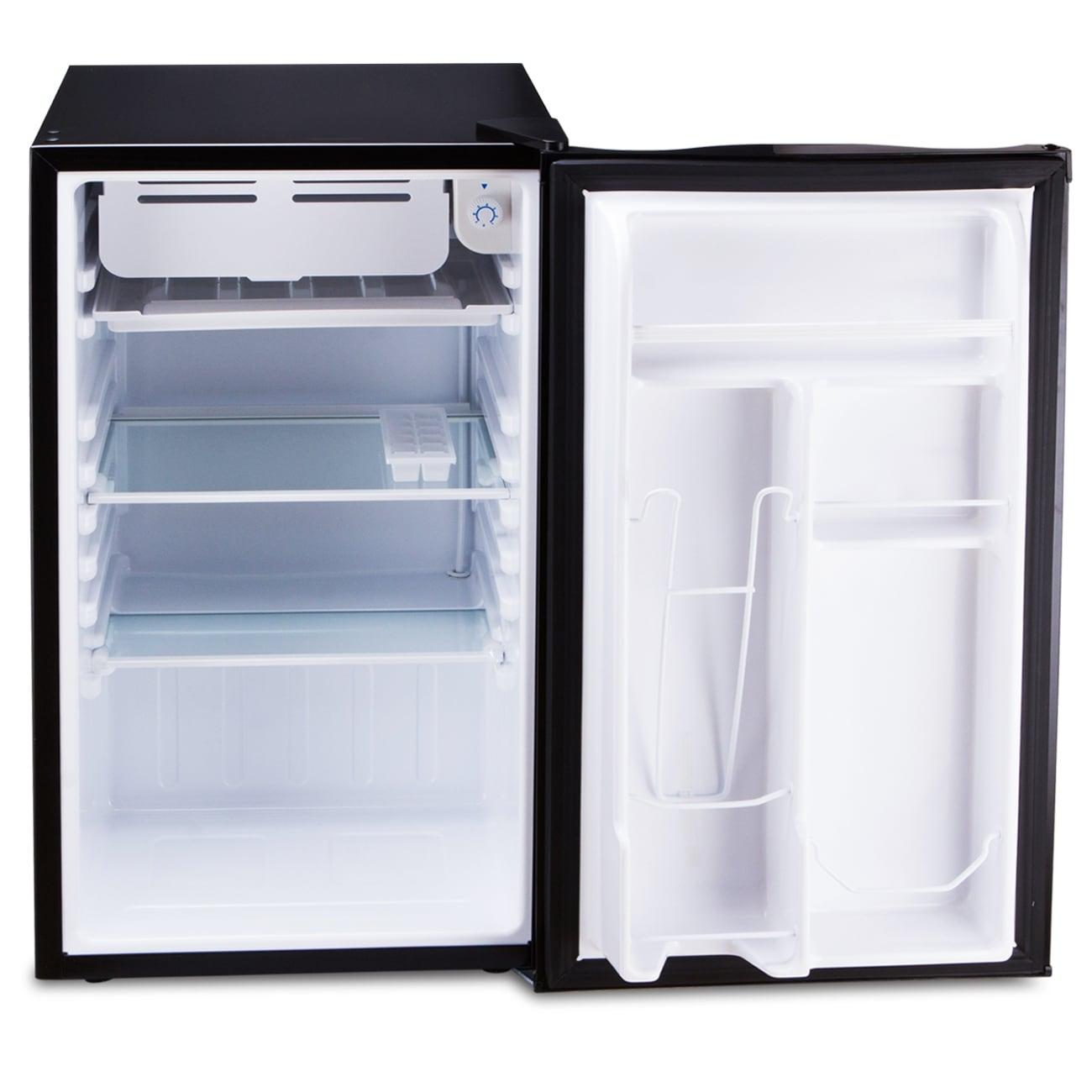 Shop Della Compact Refrigerator Freezer Energy Saving 3 2 Cubic Feet Black Standard Overstock 15874367