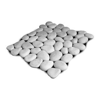 Miseno MT-P3PWH Pebble Natural Stone Mosaic Tile (10.12 SF / Carton) - White - N/A