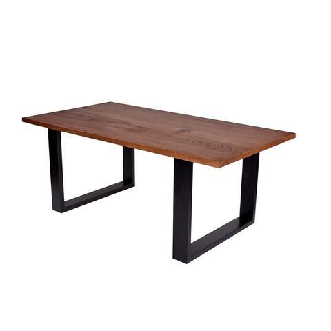 MONAPOLI Wood Dining Table - Walnut/Black
