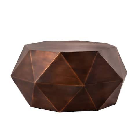 Pasargad Home Kronos Diamond Shape Iron Coffee Table