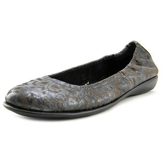 The Flexx Dolce Women Round Toe Synthetic Black Flats