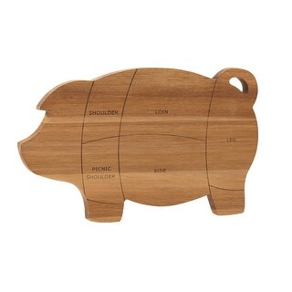 Paula Deen 46594 8.5 x 14 in. Pantry Ware Pig Cutting & Serving Board, Wood