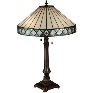 Meyda Tiffany 134537 Diamondring 2 Light Desk Lamp