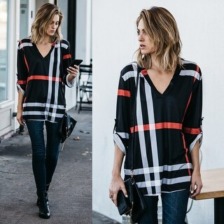 Polished Playful Plaid Blouse
