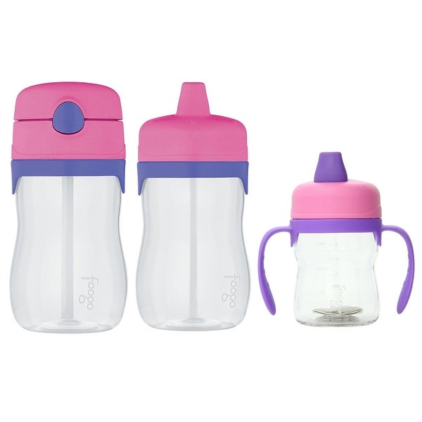 Thermos Foogo Sippy Cup Drink Bottle & Straw Drink Bottle Set for Toddler