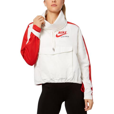 Nike Womens Archive Pullover Coat Fall Lightweight