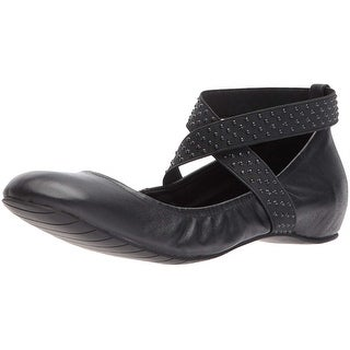 Kenneth Cole REACTION Women's Gen-Eral Elastic Straps Leather Ballet Flat - 6