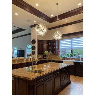 "Interior Decor Starburst Crystal Chandelier 8-lights Firework Globe Pendant Sputnik Ceiling Light - W20""xH20"""