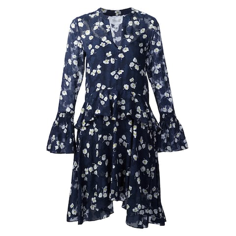 Derek Lam Crosby Navy Floral Dress