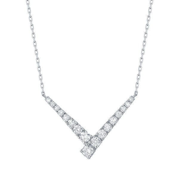 "Smiling Rocks 0.52Ct G-H/VS1 Lab Grown Diamond ""V"" Shaped Necklace"