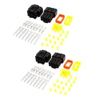 2 Set Cable Connector Plug 8 Pins 8 Way Waterproof Electrical Car Motorcycle HID