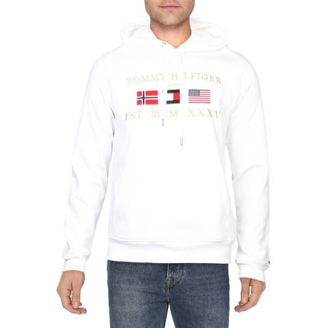Tommy Hilfiger Mens Hoodie Embroidered Logo