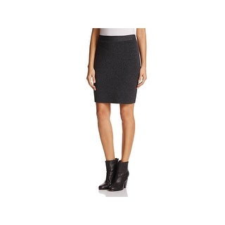 Eileen Fisher Womens Petites Pencil Skirt Knit Pull On