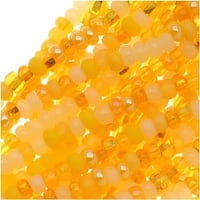 Czech Seed Beads 11/0 Mix Lot Daffodil Yellow Lemon