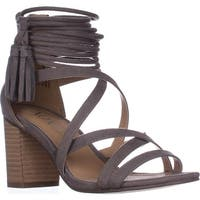 XOXO Elle Block-Heel Ankle-Strap Sandals, Taupe