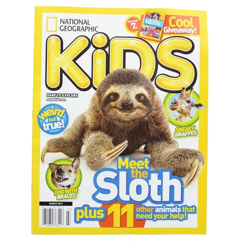 National Geographic Kids Magazine: Meet the Sloth (March 2017) - Multi