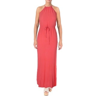 Flynn Skye Womens Maxi Dress Textured Side Slit