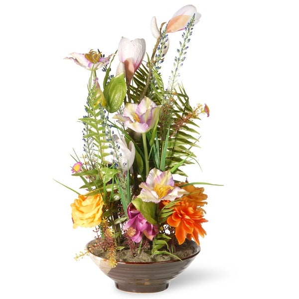 """17"""" Potted Floral Arrangement - N/A"""