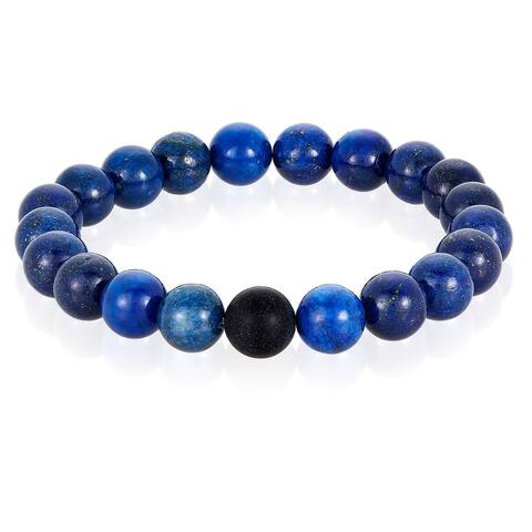 Crucible Spiritual Healing Natural Stone Bead Stretch Bracelet