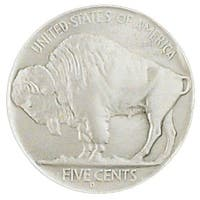 Buffalo Nickel Silver Tone Belt Buckle