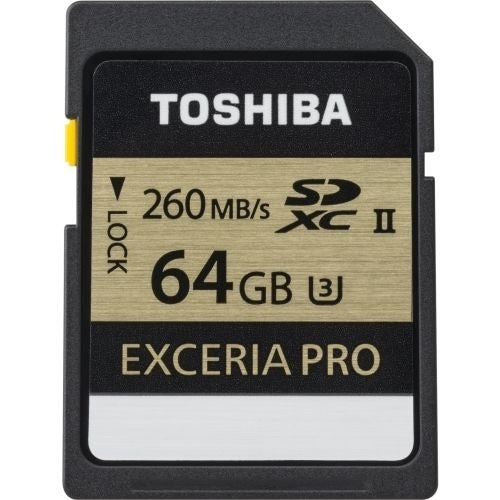 Toshiba THN-N101K0640U6 64GB Exceria Pro Secure Digital Extended Capacity (SDXC) Card