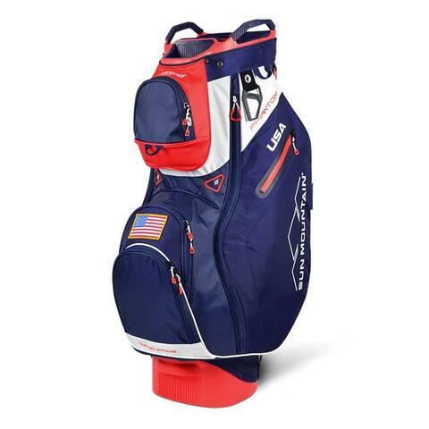 New 2019 Sun Mountain Phantom Golf Cart Bag (Navy / White / Red) - Navy / White / Red