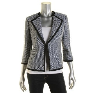 Kasper Womens Province Textured Lined Blazer