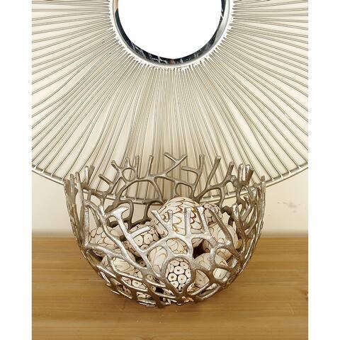 Silver Orchid Compson 2-piece Aluminum Decorative Bowls Set