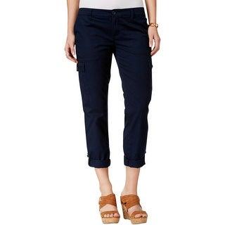 Tommy Hilfiger Womens Capri Pants Cotton Roll Cuff