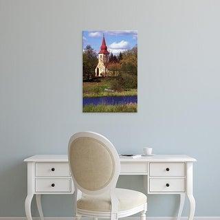 Easy Art Prints Janis Miglavs's 'Church Nestled In Rural Latvia' Premium Canvas Art