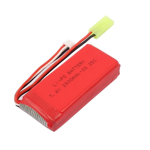 DC 7.4V 2800mAh Red Recycle Charging Lithium Battery Pack for RC Aircraft