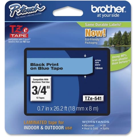 Brother international corporat tze-541 black on blue