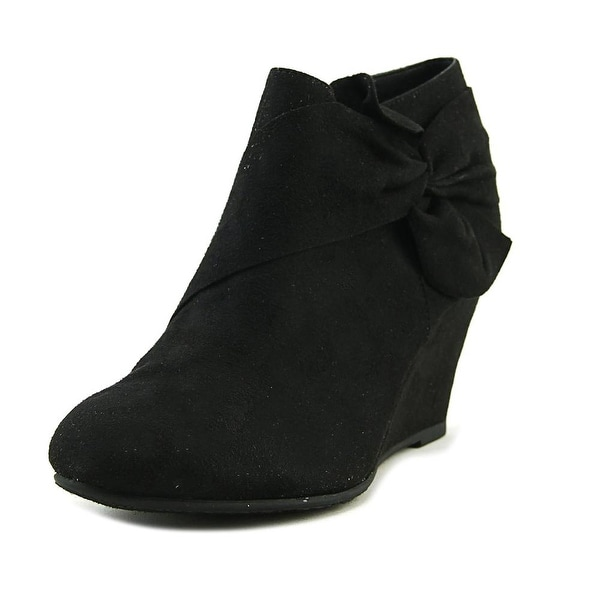 CL By Laundry Vivid Women Round Toe Synthetic Black Bootie