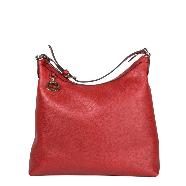 7301fe47dd4 Gucci GG Charm Red Leather Handbag with Adjustable Handle 449711 6420 - One  size